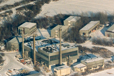 Aerial view of the Glass Fiber Production Department.